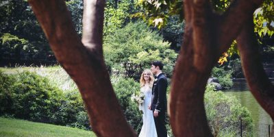 Couple In Summer Outdoor wedding