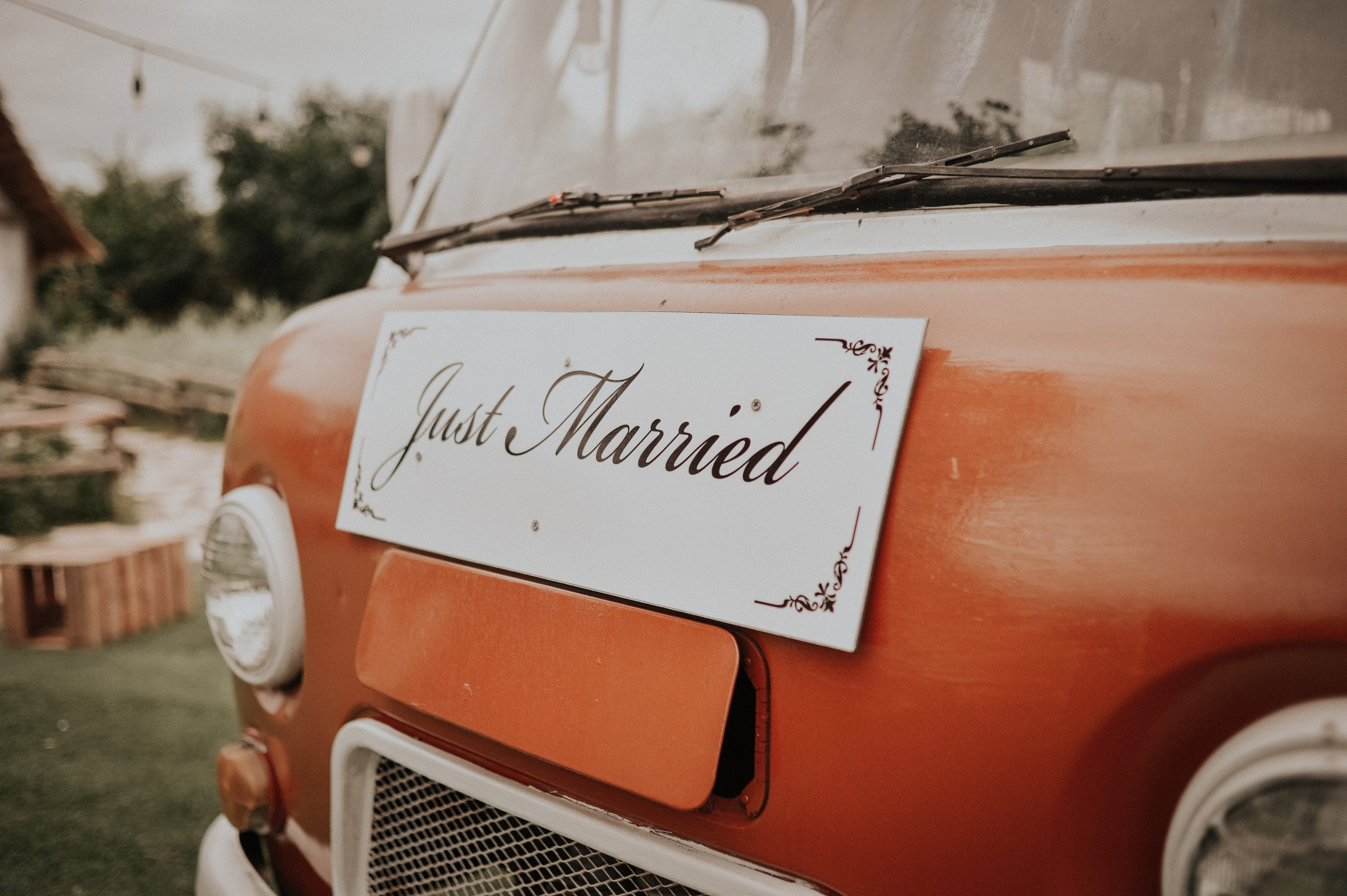 just married going on honeymoon